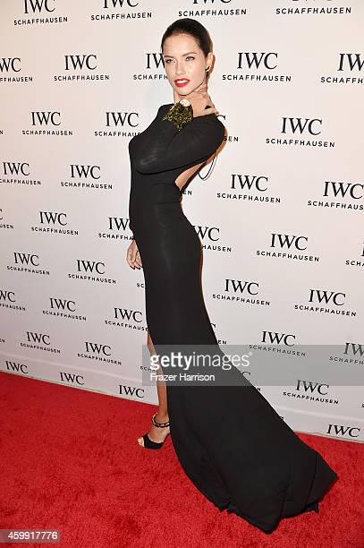 Model Adriana Lima attends IWC Schaffhausen celebrates 'Timeless Portofino' Gala Event during Art Basel Miami Beach to mark the Launch of the new...