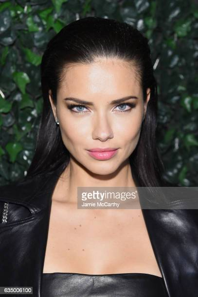 ed04a1f994 Model Adriana Lima attends Maybelline NYFW Welcome Party at PHD Terrace at  Dream Midtown on February.