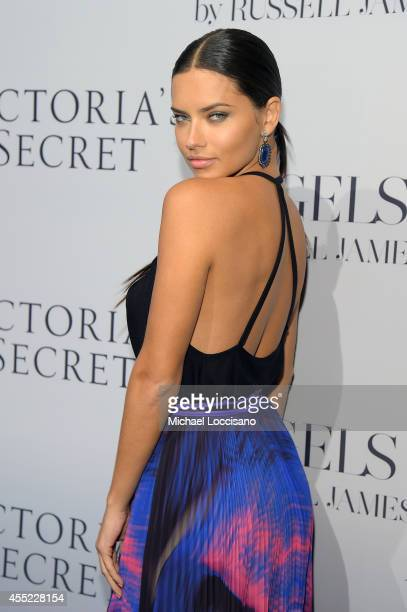 Model Adriana Lima attends Russell James' Angels book launch hosted by Victoria's Secret on September 10 2014 in New York City