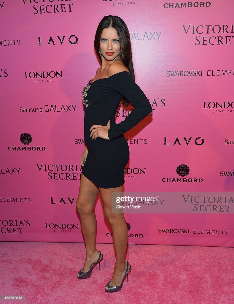 Model Adriana Lima attends Samsung Galaxy features arrivals at the official Victoria's Secret fashion show after party on November 7, 2012 in New York City.