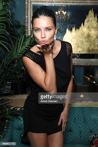 Model Adriana Lima attends Society Hosts Fundraiser For English In Mind Institute at The Wooly on September 17 2015 in New York City