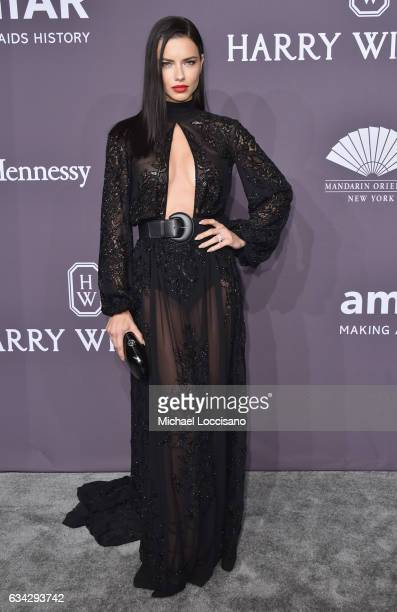 Model Adriana Lima attends the 19th Annual amfAR New York Gala at Cipriani Wall Street on February 8 2017 in New York City