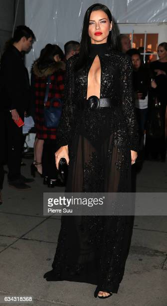 Model Adriana Lima attends the 19th annual amfAR's New York Gala to kick off NY Fashion Week at Cipriani Wall Street on February 8 2017 in New York...