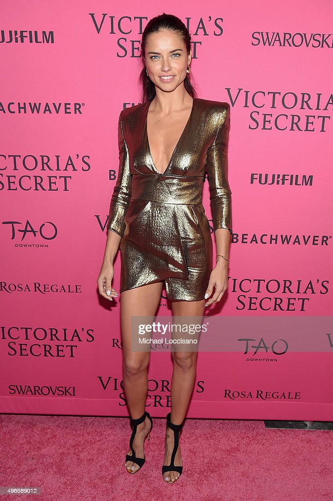 Model Adriana Lima attends the 2015 Victoria's Secret Fashion After Party at TAO Downtown on November 10, 2015 in New York City.