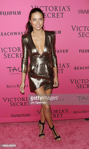 Model Adriana Lima attends the 2015 Victoria's Secret Fashion Show after party at TAO Downtown on November 10 2015 in New York City