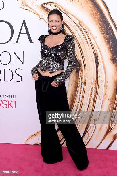 Model Adriana Lima attends the 2016 CFDA Fashion Awards at the Hammerstein Ballroom on June 6 2016 in New York City