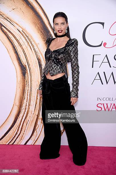Model Adriana Lima attends the 2016 CFDA Fashion Awards at the Hammerstein Ballroom on June 6, 2016 in New York City.