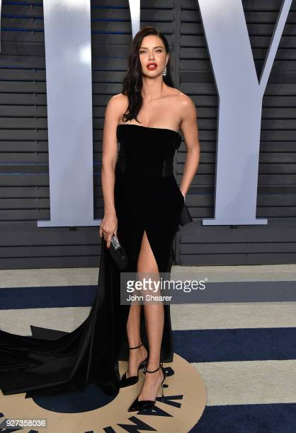 Model Adriana Lima attends the 2018 Vanity Fair Oscar Party hosted by Radhika Jones at Wallis Annenberg Center for the Performing Arts on March 4...