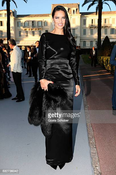 Model Adriana Lima attends the amfAR's 23rd Cinema Against AIDS Gala at Hotel du Cap-Eden-Roc on May 19, 2016 in Cap d'Antibes, France.