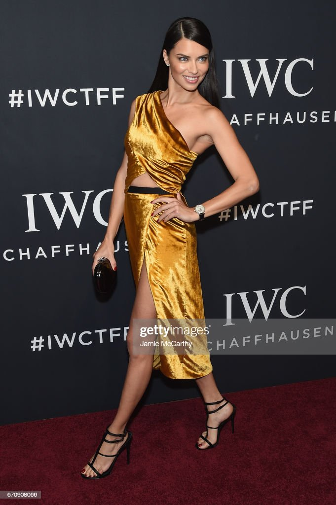 Model Adriana Lima attends the exclusive gala event 'For the Love of Cinema' during the Tribeca Film Festival hosted by luxury watch manufacturer IWC Schaffhausen on April 20, 2017 in New York City.