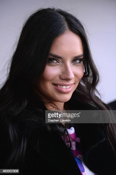 Model Adriana Lima attends the Gabriela Cadena fashion show during MercedesBenz Fashion Week Fall 2015 on February 12 2015 in New York City