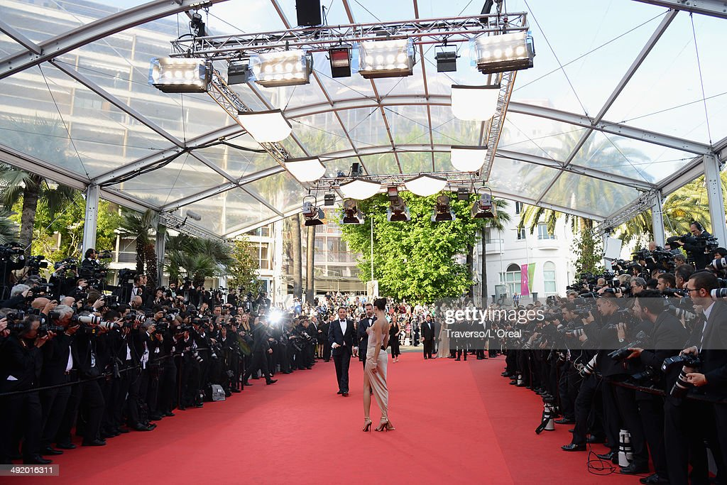 Model Adriana Lima attends 'The Homesman' premiere during the 67th Annual Cannes Film Festival on May 18, 2014 in Cannes, France.