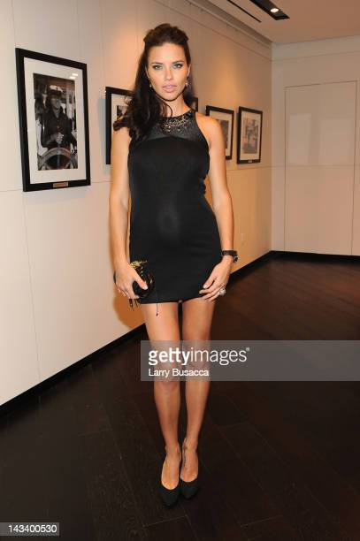 Model Adriana Lima attends the IWC Flagship Boutique New York City Grand Opening at IWC Boutique on April 25 2012 in New York City