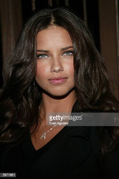 Model Adriana Lima attends the launch party for the new photo book 'Backstage Sexy' at Spice Market February 11 2003 in New York City