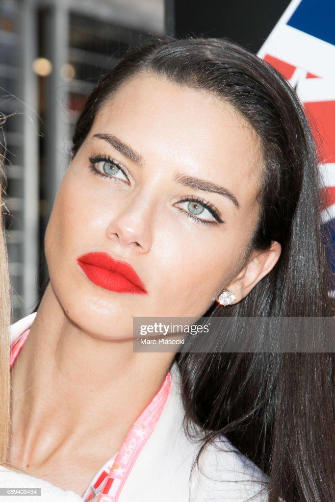 Model Adriana Lima attends the Monaco Formula 1 Grand Prix at the Monaco street circuit, on May 28, 2017 in Monaco.