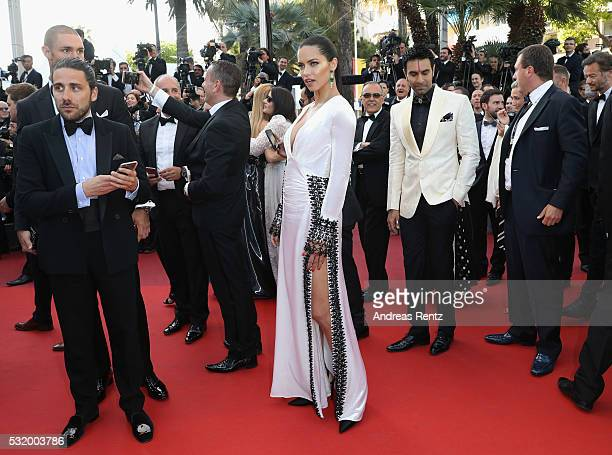 Model Adriana Lima attends the screening of Julieta at the annual 69th Cannes Film Festival at Palais des Festivals on May 17 2016 in Cannes France