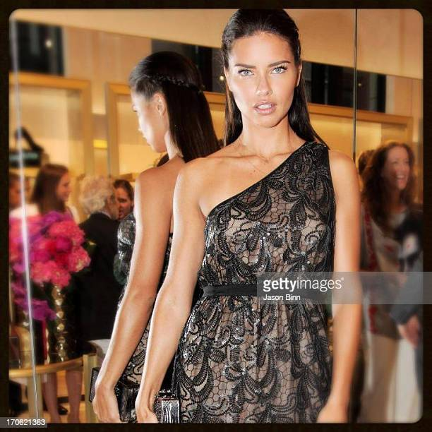 Model Adriana Lima attends the Vince Camuto Flagship Opening with Adriana Lima in collaboration with New Yorkers for Children at the Vince Camuto...
