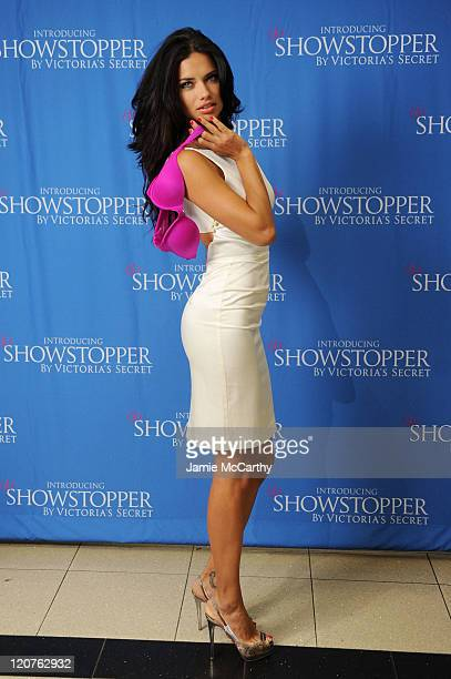 Model Adriana Lima attends Victoria's Secret launch of Showstopper at Victoria's Secret, Herald Square on August 9, 2011 in New York City.