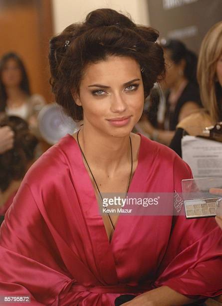 Model Adriana Lima backstage at the 12th Annual Victoria's Secret Fashion Show at the Kodak Theater on November 15 2007 in Los Angeles