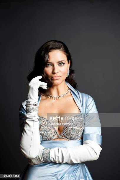 Model Adriana Lima is photographed at a portrait shoot on October 20 2010 in New York City