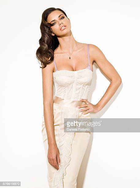 Model Adriana Lima is photographed for Atlanta Peach in 2008 in New York City Dress by Dolce Gabbana Body by Victoria BioFit bra by Victoria's Secret...