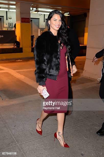 Model Adriana Lima is seen in Soho on December 5 2016 in New York City