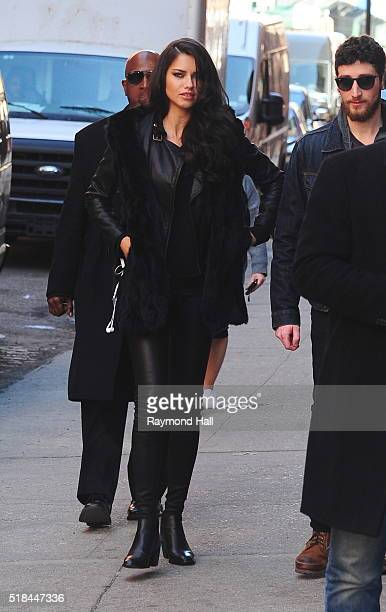 Model Adriana Lima is seen the set of a Photoshoot on March 31 2016 in New York City