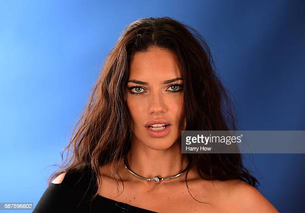 Model Adriana Lima poses for a photo on the NBC Today show set on Copacabana Beach on August 8 2016 in Rio de Janeiro Brazil