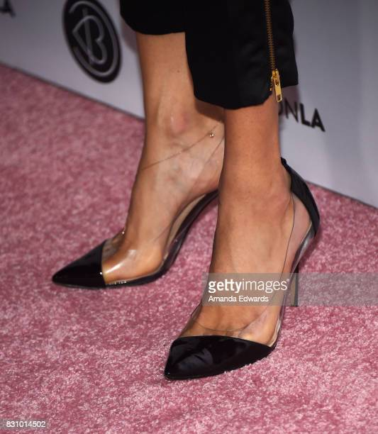 Model Adriana Lima shoe detail attends the 5th Annual Beautycon Festival Los Angeles at the Los Angeles Convention Center on August 12 2017 in Los...