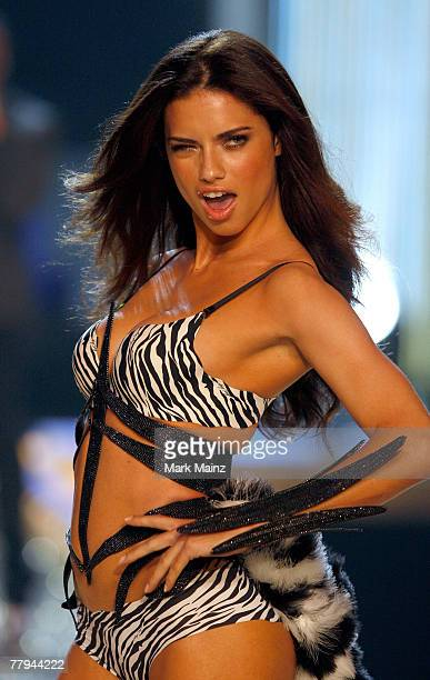 Model Adriana Lima walks the runway at the 2007 Victoria's Secret fashion show held at the Kodak Theatre on November 15 2007 in Hollywood California...