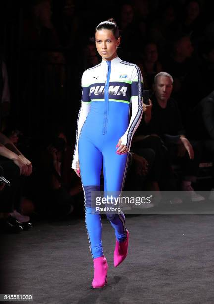 Model Adriana Lima walks the runway at the Fenty Puma by Rihanna show during New York Fashion Week at the 69th Regiment Armory on September 10 2017...
