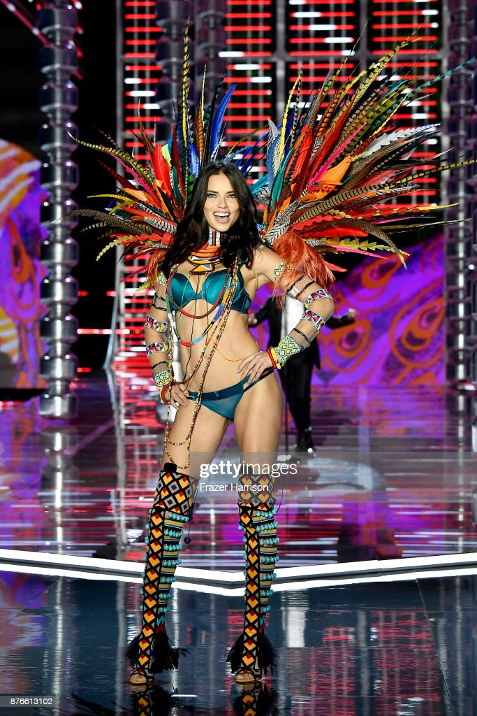 Model Adriana Lima walks the runway during the 2017 Victoria's Secret Fashion Show In Shanghai at Mercedes-Benz Arena on November 20, 2017 in Shanghai, China.