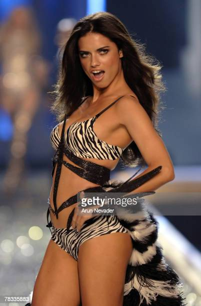 Model Adriana Lima wearing Victoria's Secret at the 12th Victoria's Secret Fashion show at the Kodak Theater on November 15 2007 in Hollywood...