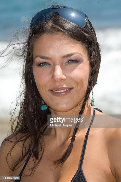 Model Adrianne Curry attends Spin Magazine Hosts Vision Street Wear ReLaunch Party on August 2 2009 in Malibu California