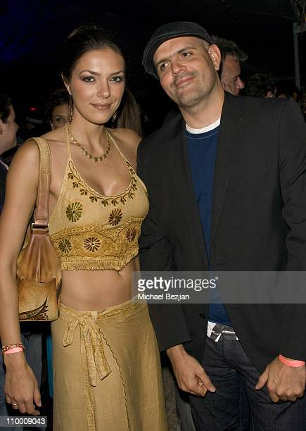 Model Adrienne Curry and a guest attend The Marijuana Policy Project's Fourth Annual Party at the Playboy Mansion on June 4th 2009 in Los Angeles...