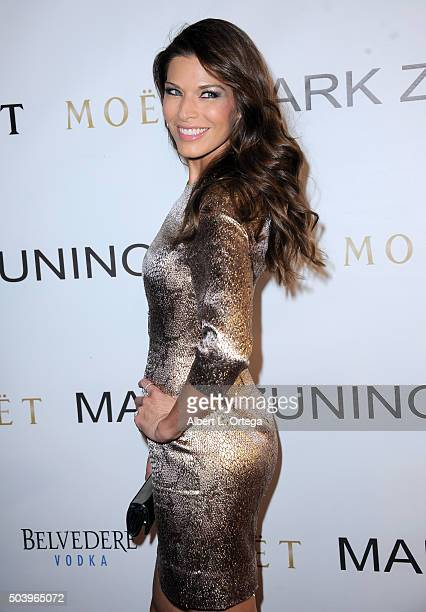 Model Adrienne Janic arrives for the Mark Zunino Atelier Opening held at Mark Zunino Atelier on January 7 2016 in Beverly Hills California