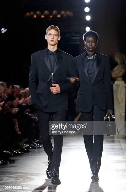 Model Adut Akech walks the runway during the Berluti Menswear Fall/Winter 20192020 show as part of Paris Fashion Week on January 18 2019 in Paris...