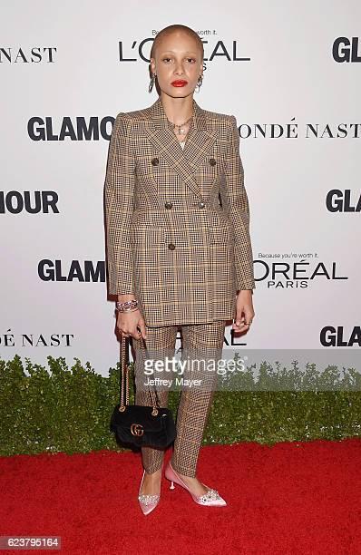 Model Adwoa Aboah arrives at the Glamour Women Of The Year 2016 at NeueHouse Hollywood on November 14 2016 in Los Angeles California Adwoa Aboah