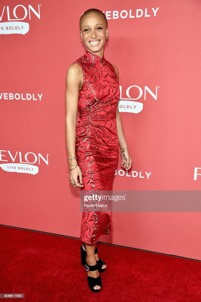 Model Adwoa Aboah attends the Revlon Live Boldly launch event at Skylight Modern on January 24, 2018 in New York City.