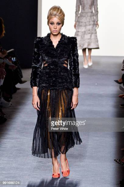 Model Adwoa Aboah walks the runway during the Fendi Couture Haute Couture Fall Winter 2018/2019 show as part of Paris Fashion Week on July 4 2018 in...