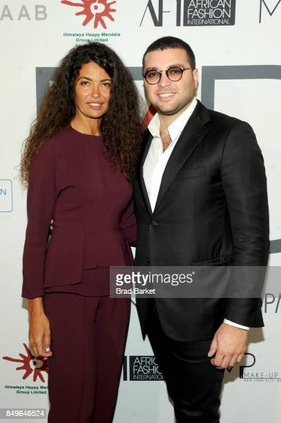 Model Afef Jnifen and Elie Saab Jr attend Fashion 4 Development's 7th Annual First Ladies Luncheon at The Pierre Hotel on September 19 2017 in New...