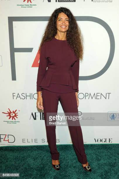 Model Afef Jnifen attends Fashion 4 Development's 7th Annual First Ladies Luncheon at The Pierre Hotel on September 19 2017 in New York City