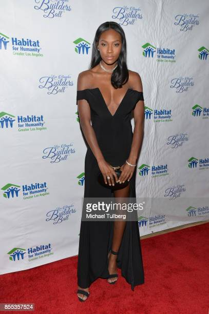 Model Afiya Bennett attends the 2017 Los Angeles Builders Ball at The Beverly Hilton Hotel on September 28 2017 in Beverly Hills California