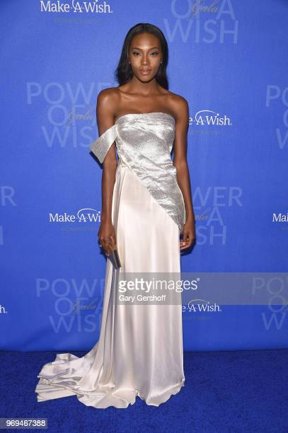 Model Afiya Bennett attends the 35th Anniversary MakeAWish Metro New York Gala at Cipriani Wall Street on June 7 2018 in New York City