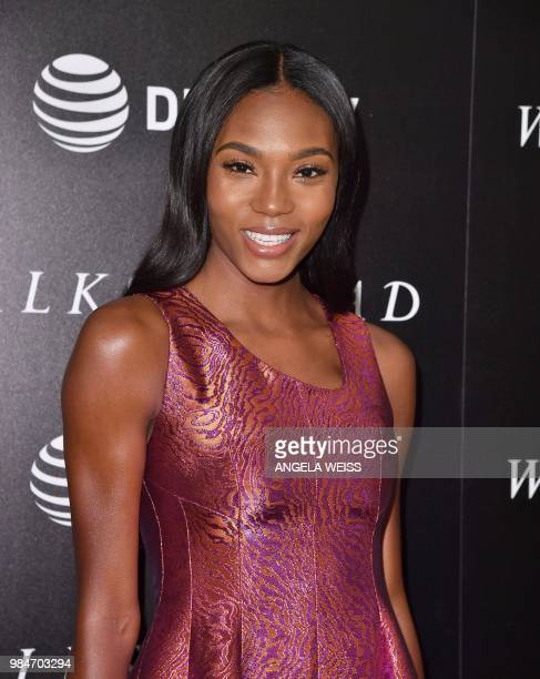 US model Afiya Bennett attends the New York Special Screening of 'Woman Walks Ahead' at Whitby Hotel on June 26 2018 in New York City