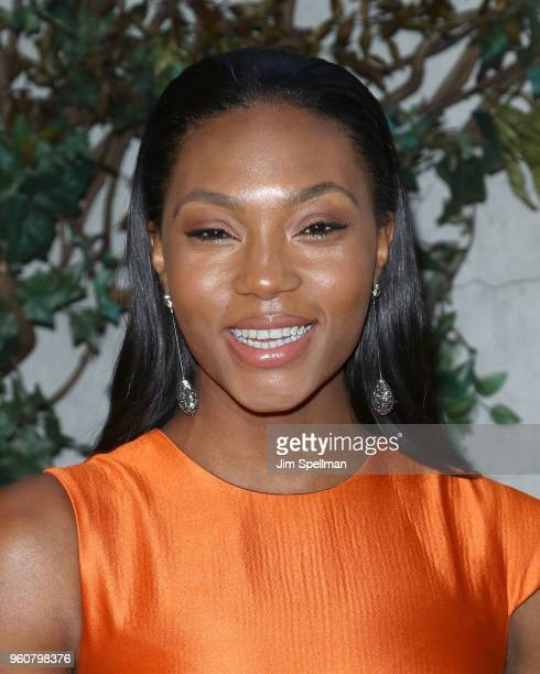 Model Afiya Bennett attends the party for Ava DuVernay and 'Queen Sugar' hosted by OWN at Laduree Soho on May 20 2018 in New York City