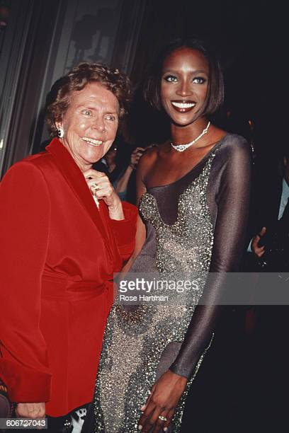 Model agency founder Eileen Ford with supermodel Naomi Campbell at the 13th Annual Night of Stars at the Pierre Hotel New York City 1996