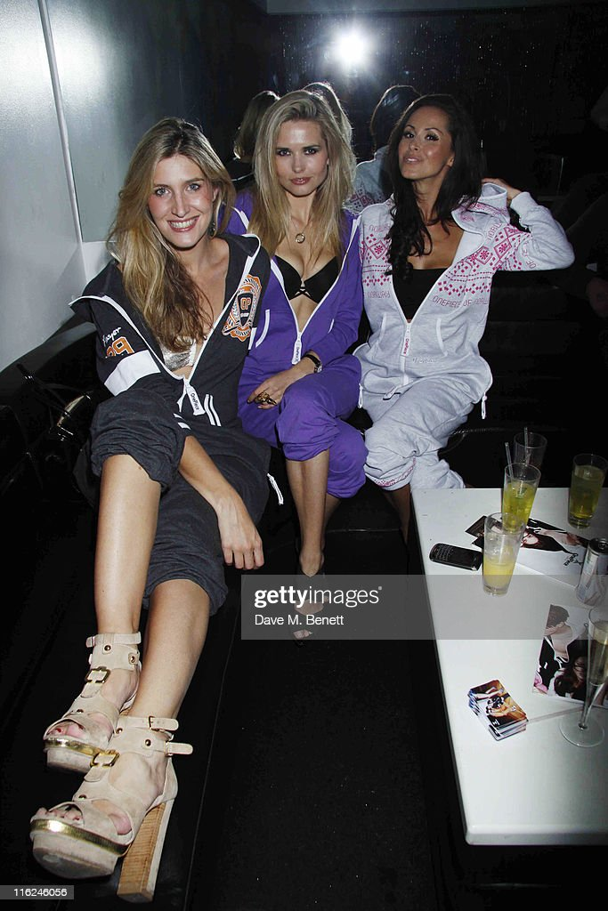 Model Agne Motiejunaite (C) with Francesca Hull and Funda Onal from the TV show 'Made In Chelsea' at the Bond Club, 24 Kingly Street on 10 June, 2011 in London,England.