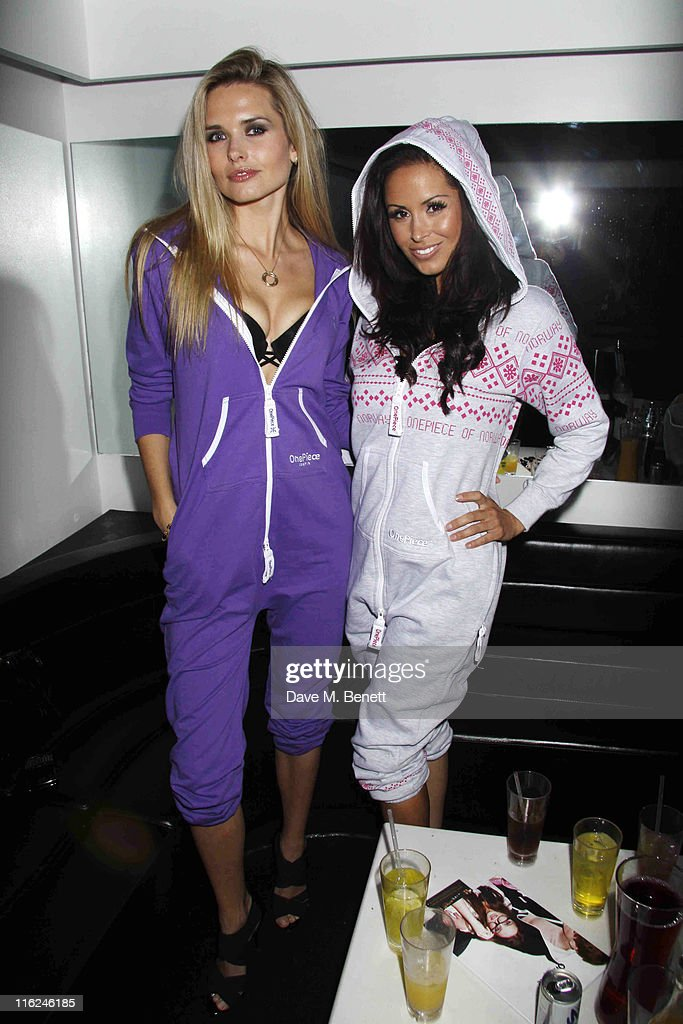 Model Agne Motiejunaite (L) with Funda Onal from the TV show 'Made In Chelsea' at the Bond Club, 24 Kingly Street on 10 June, 2011 in London,England.