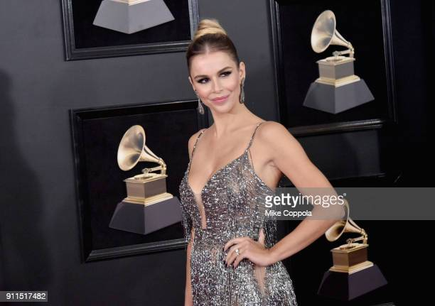 Model Agueda Lopez attends the 60th Annual GRAMMY Awards at Madison Square Garden on January 28 2018 in New York City